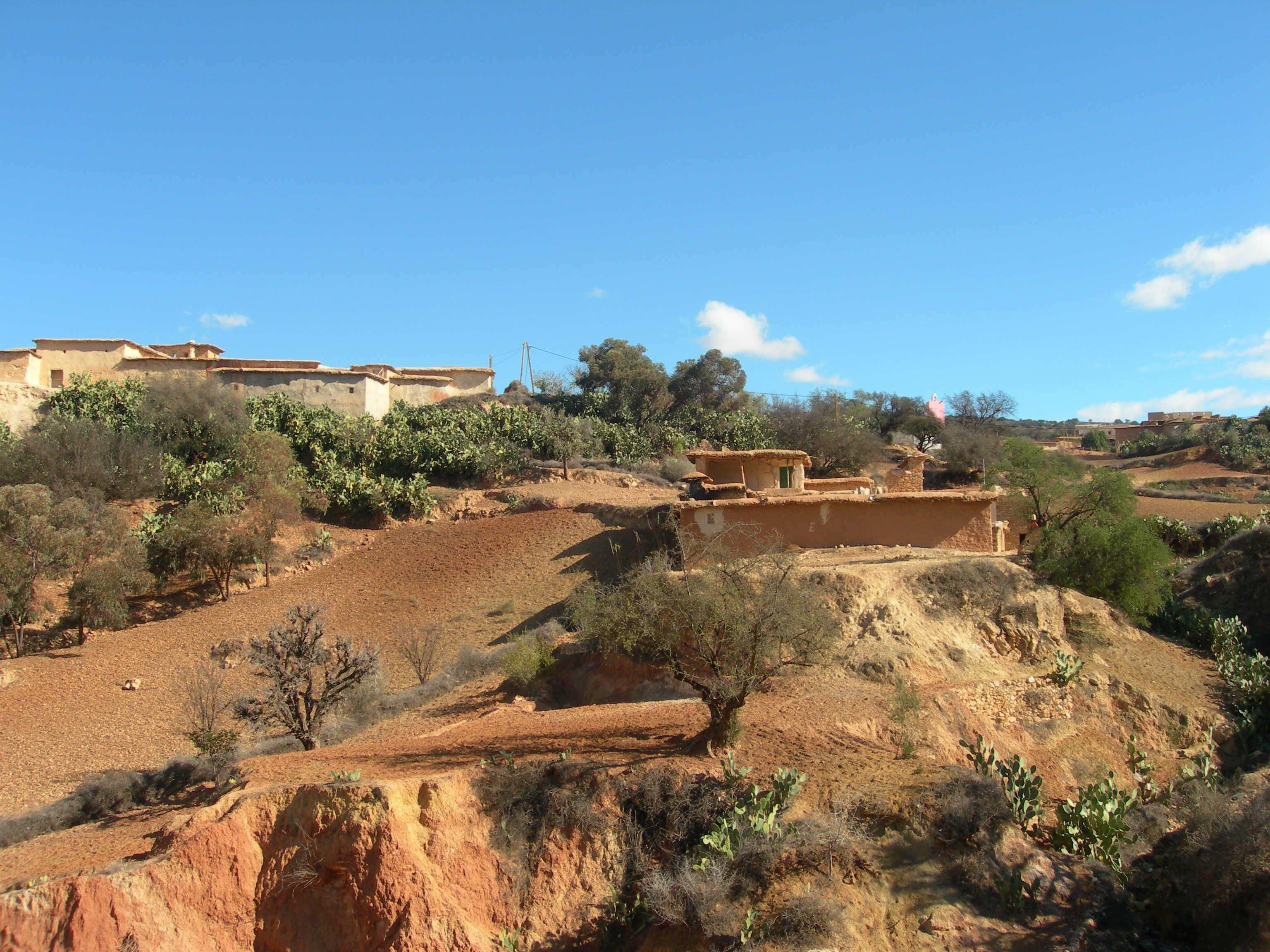 Village en étages près de Tamaloukt
