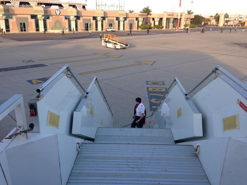 Arrivée à Agadir Al  Massira depuis Genève à 17 h 20.