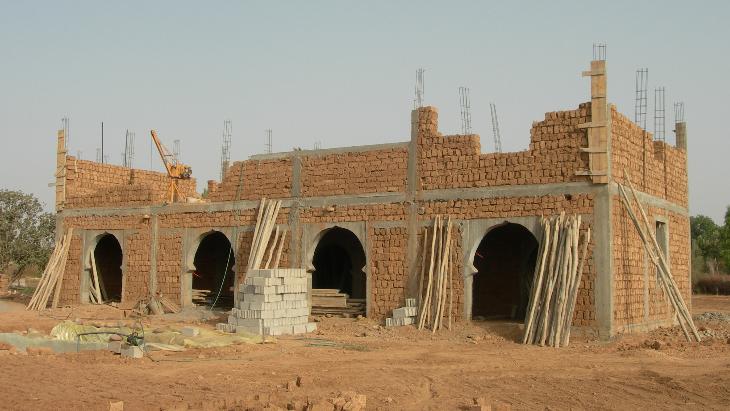 Construction en briques de pisé