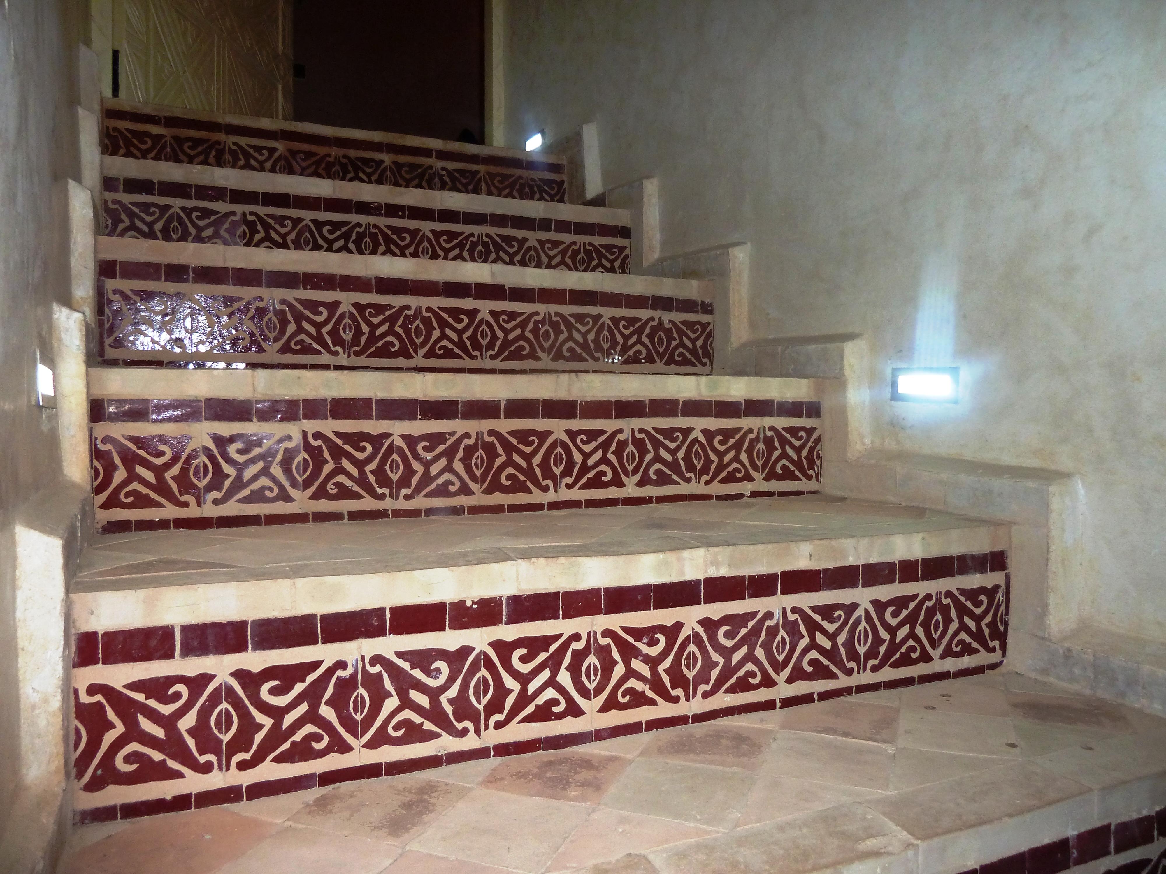 Escalier menant à la suite Marrakech