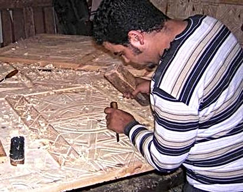 Résurrection de mes portes berbères qui avaient été incendiées