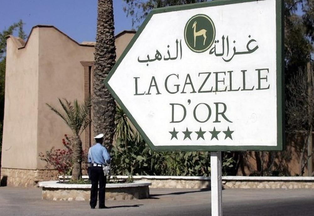 La Gazelle d'Or, à l'entrée  de Taroudant lorsqu'on arrive de l'autoroute de Marrakech.