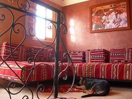 Chambre Agadir : deux lits en équerre