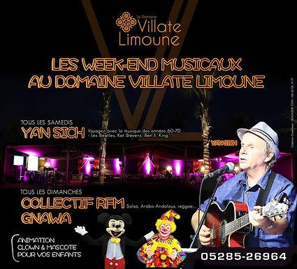 Week-ends musicaux à Villate Limoune à deux pas du Jardin aux Etoiles