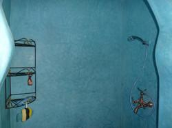 Douche aux murs de tadelakt