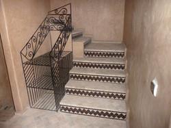 Escalier depuis la suite Tiznit