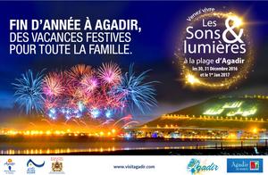 Joli programme Sons et lumières pour la fin de l'annnée 2016 à Agadir.