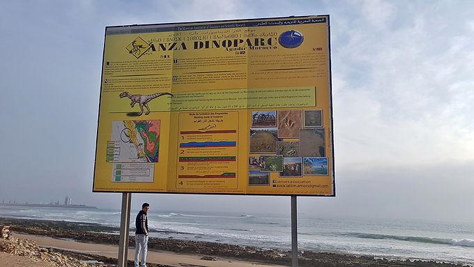 Empreintes de pas de dinosaures d'Anza à Agadir : protégées et en même temps menacées...