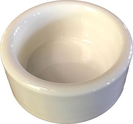 Small White Round Porcelain Salt