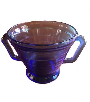Moderntone Hazel Atlas Cobalt Blue Depression Bowl