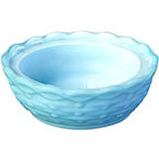 Blue Milk Glass Basket Bowl