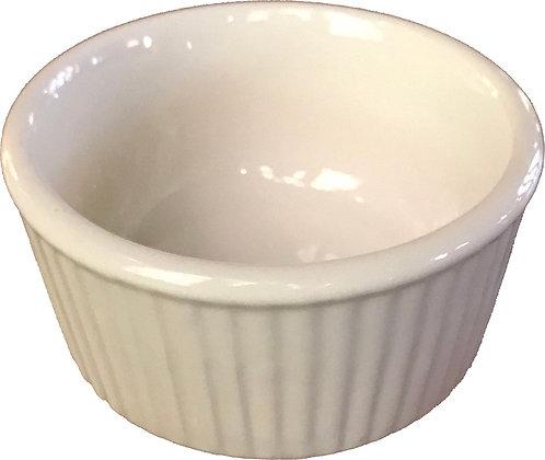 Hall White Fluted Salt Bowl