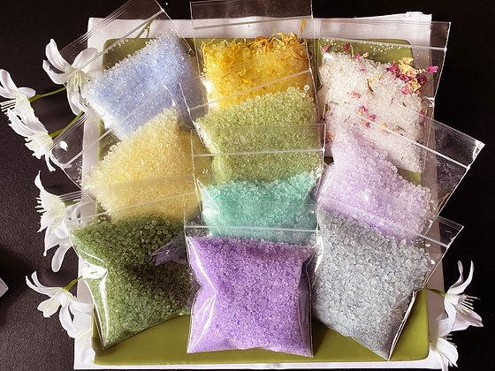 Bath Salt Samples 1 of each Fragrance!