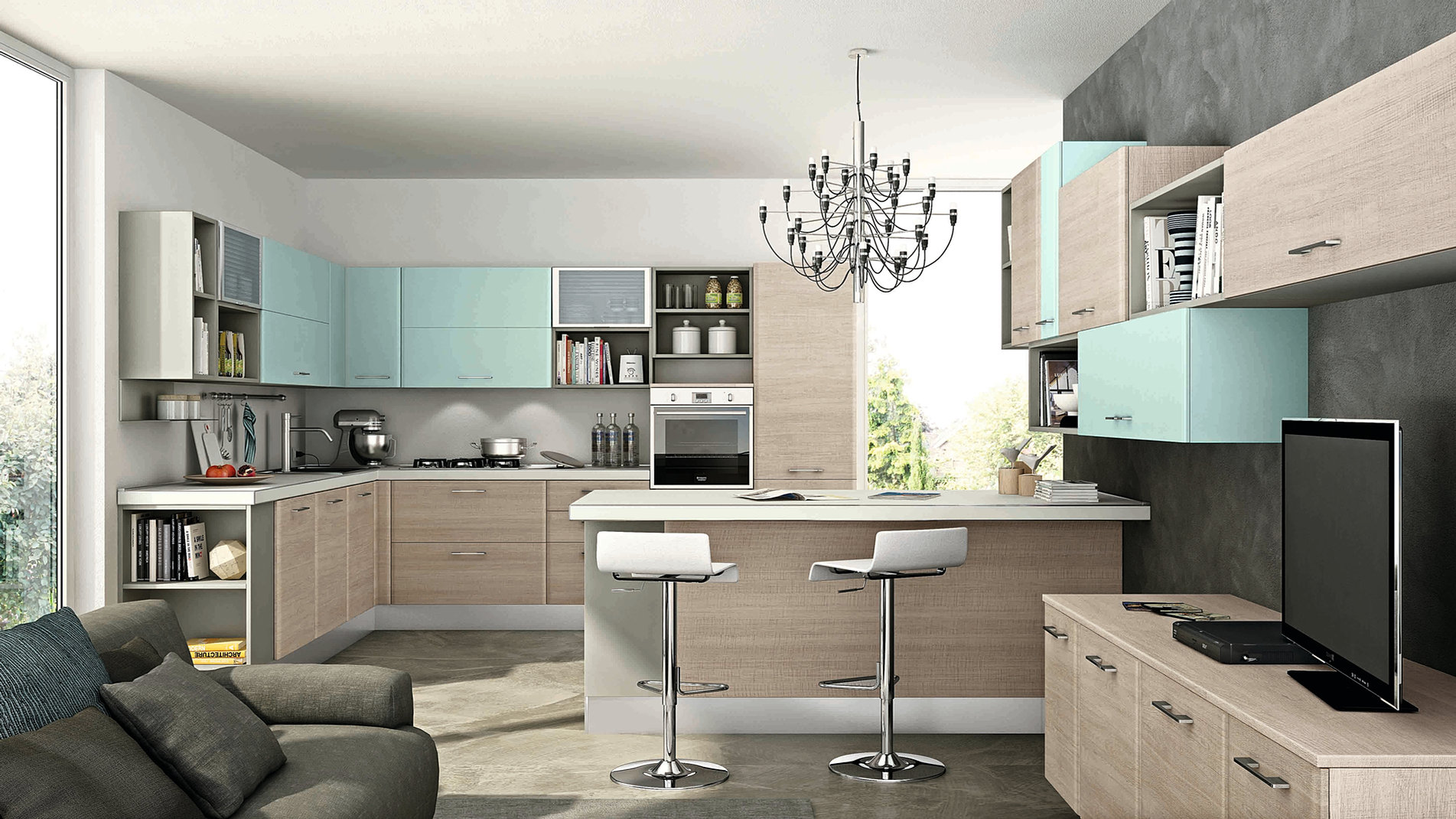 Cucine in muratura moderne colorate lw85 regardsdefemmes - Cucine moderne colorate ...