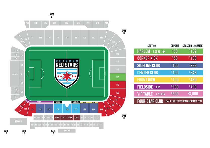 Stadium Map Pricing2021_Deposit Pricing.