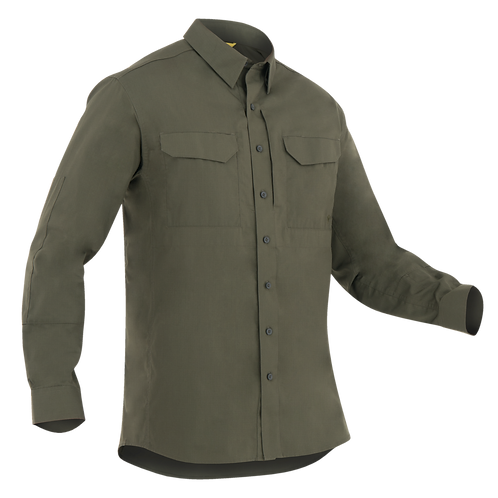 Camisa Táctica manga larga color Verde  |  First Tactical