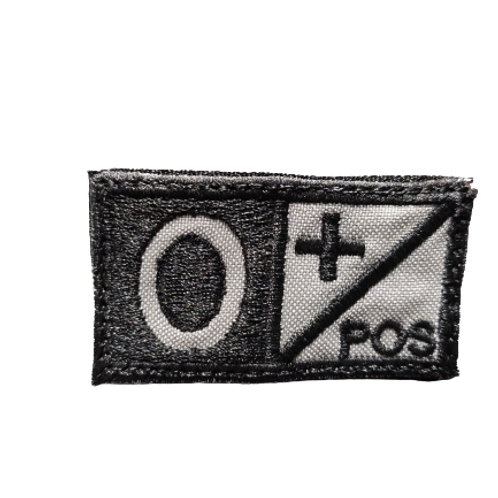 Parche Tipo de sangre O+ PTYTS color Negro  |  PTYTS