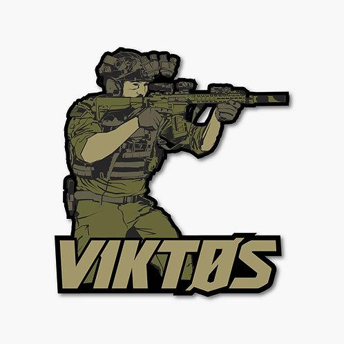 Sticker Táctico Shooter  |  Viktos