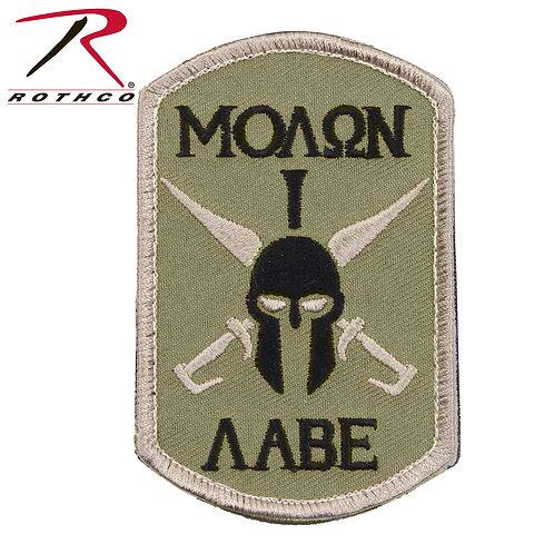 Parche Molon Labe Spartan OD  |  ROTHCO