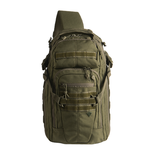 Mochila Táctica cruzada color Verde  |  First Tactical