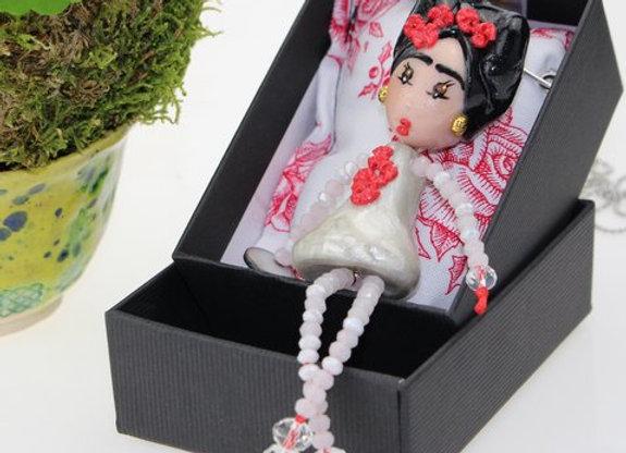 Sautoir/Broche Frida