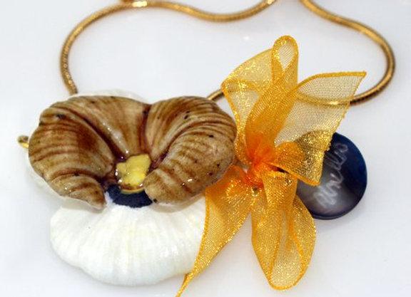 Bracelet pensée porcelaine