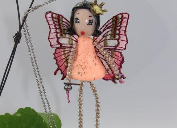 Sautoir/Broche Miss Butterfly