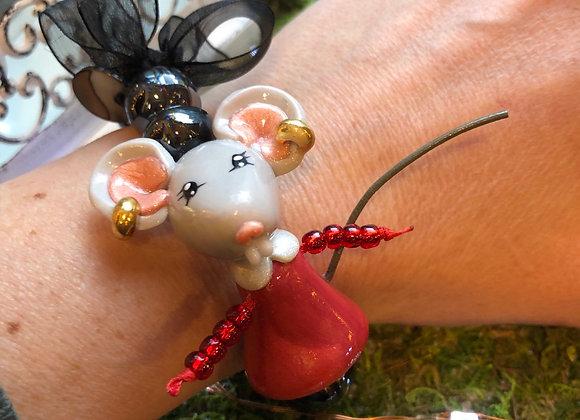 Bracelet céramique souricette