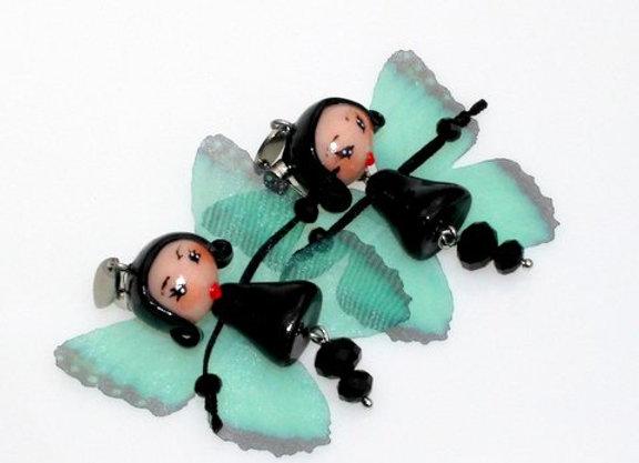 Boucles d'oreilles Miss Butterfly