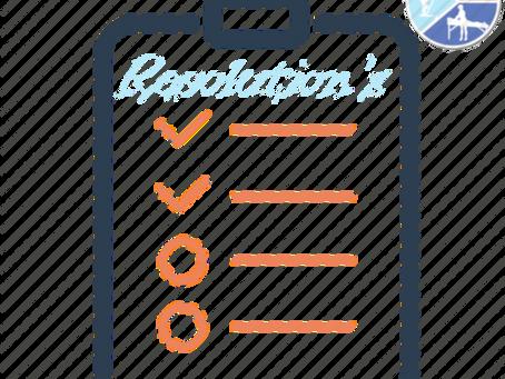 Resolution's, resolution's.