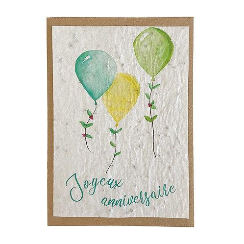 """Carte à planter """" Joyeux anniversaire """""""
