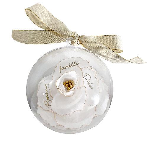 Boule de Noël fleur personnalisable