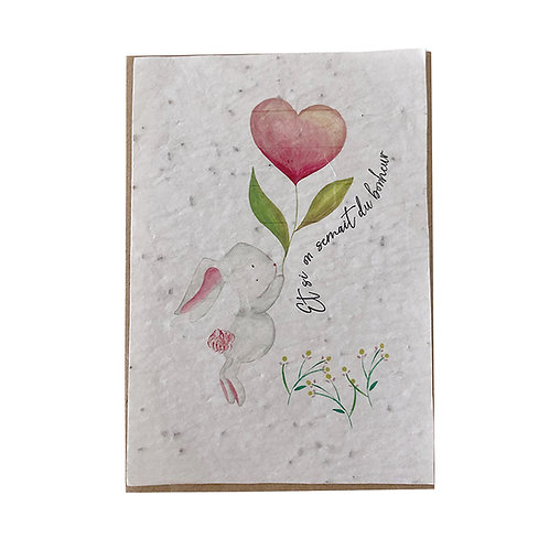 """Carte à planter """"Et si on semait du bonheur"""""""