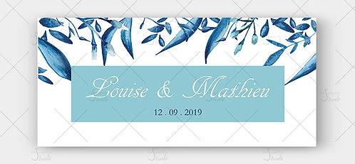 Faire Part Mariage - Songe bleuté