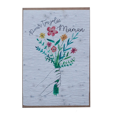 """Carte à planter """"Pour toi jolie Maman"""""""