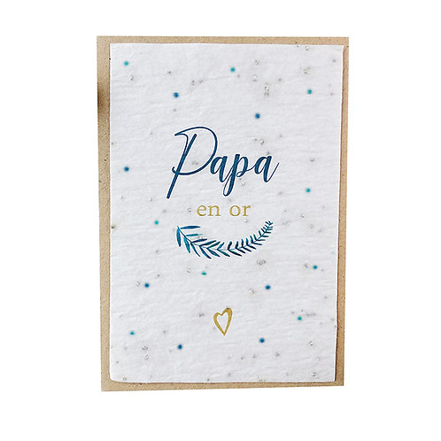 """Carte à planter """"Papa en or"""""""