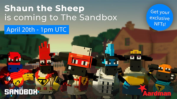 Shaun the Sheep is coming to The Sandbox