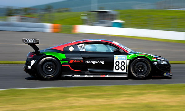 Matt Solomon racing in #88 Audi Hong Kon