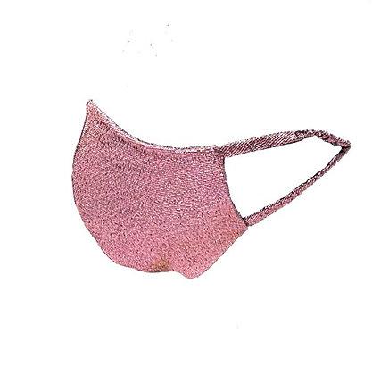 Pink Lurex Face Mask