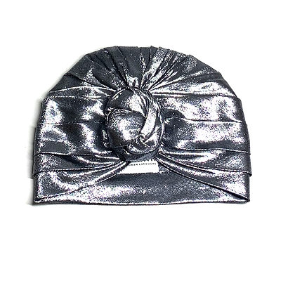 Silver Silk Lurex Turban