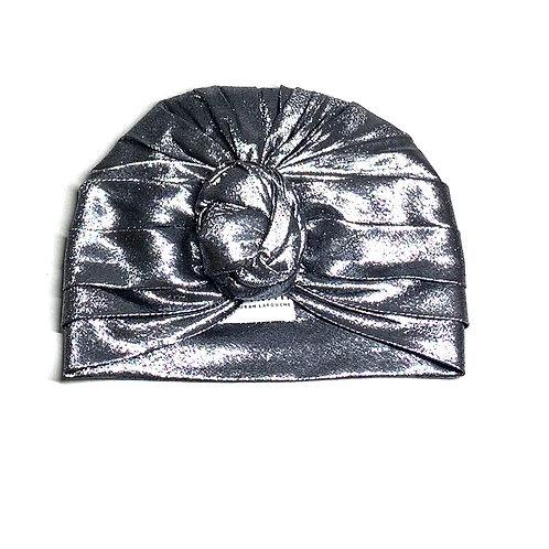 Silver Silk Lurex Turban