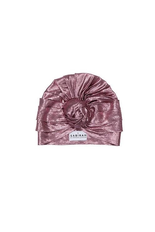 Pink Silk Lurex Turban