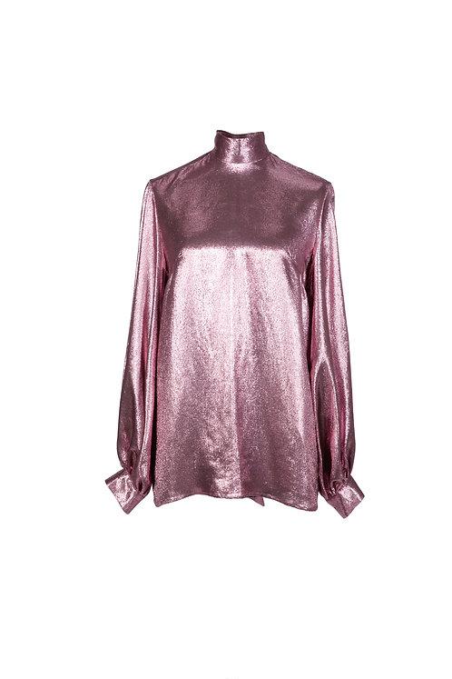 Princess Blouse (Pink Silk Lurex)