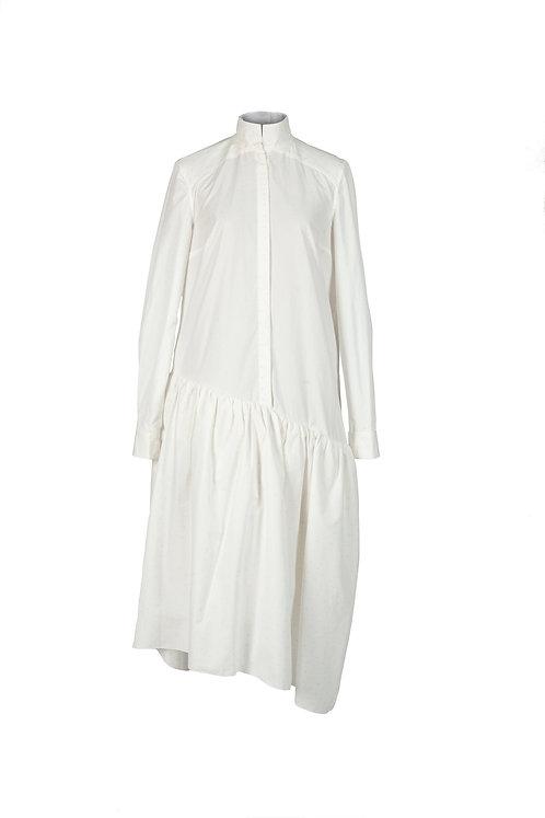 Bloom Shirt Dress in Cream