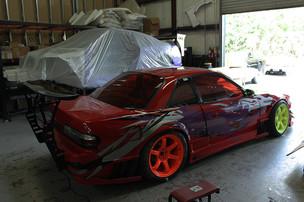 S13 シルビア &GTウイング/バックマウント