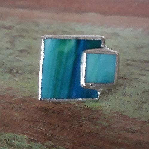 turquoise squares ring