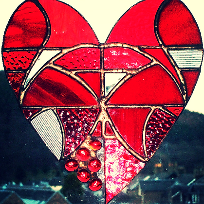 large red heart