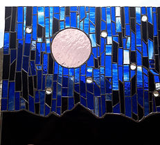 COMISSION GLASS MOON SCENERY