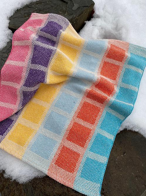 color block towels solid weft