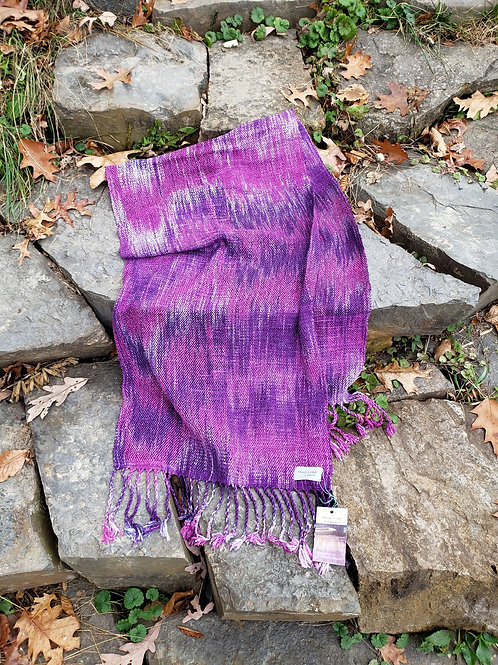 Pink and purple wide scarf